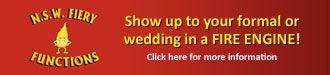 Show up to your formal or wedding in a Fire Engine!
